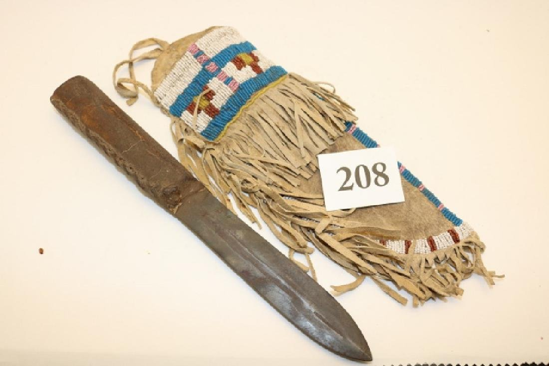 Beaded Crow Knife Sheath