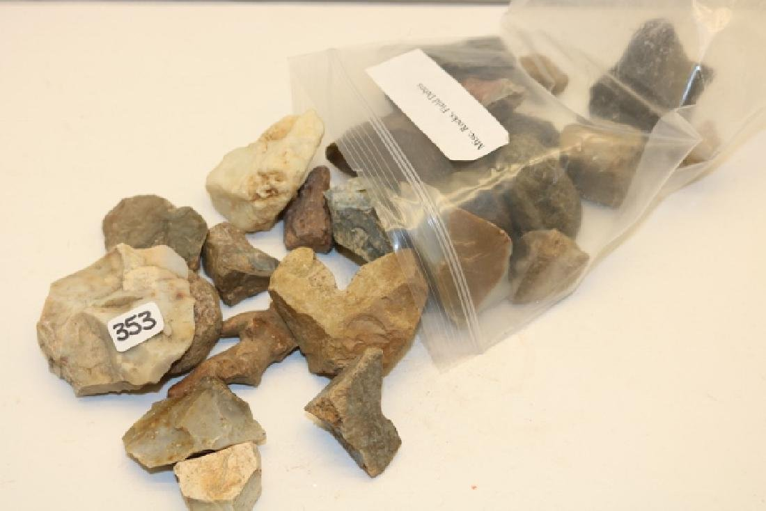Bag of Flint Filed Debris