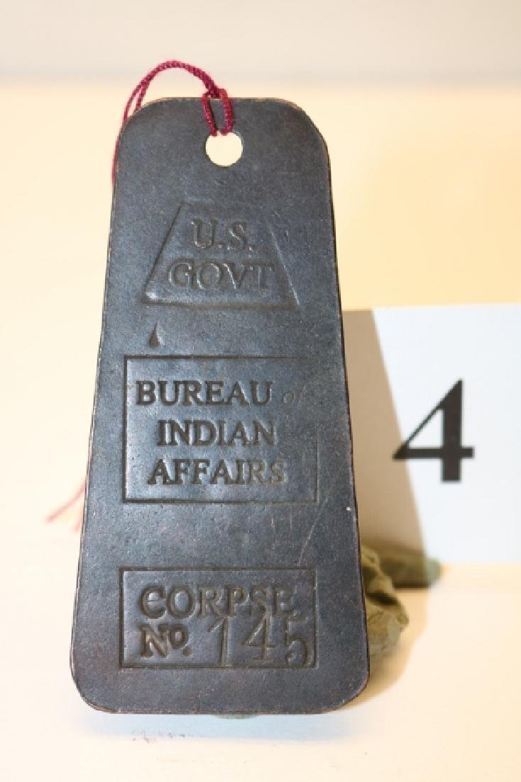 """3"""" Copper Corpse Tag US Govt. Issue"""