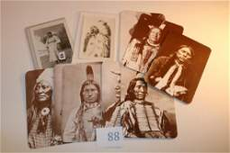 8 Indian Chief Postcards