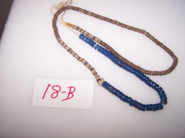 18B: Strand of Blue & Brown Trade Beads