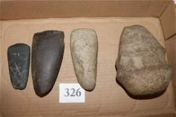 3 Stone Celts and Full Groove Axe