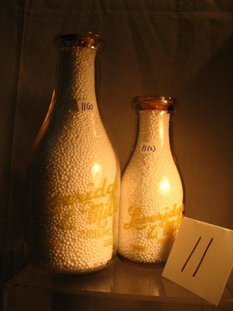 11: (2) Loveridge & Miller Dairy Milk Bottle
