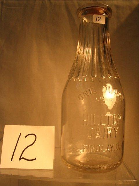 12: Hilltop Dairy Milk Bottle