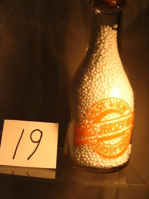 19: East View Jersey Farm Milk Bottle