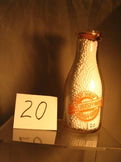 20: East View Jersey Farm Milk Bottle