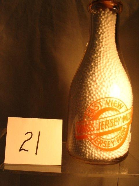 21: East View Jersey Farm Milk Bottle