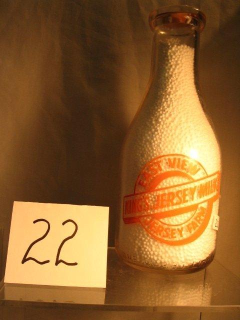 22: East View Jersey Farm Milk Bottle