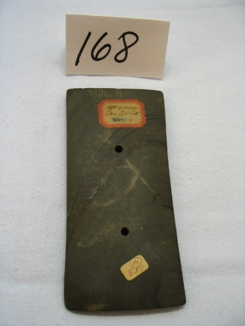 """168: 5"""" Banded Slate Adena Tablet Gorget"""
