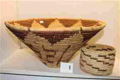 2 Indian Papago Baskets