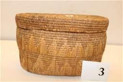 Lidded Indian Basket