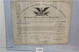 LincolnOhio National Guard Discharge Certificate