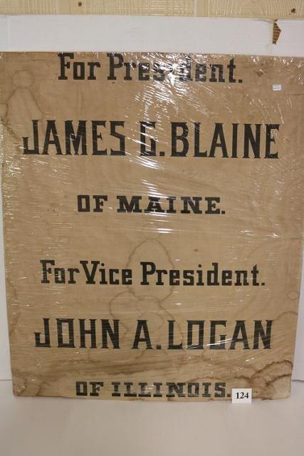 Blaine-Logan 1884 Fabric Banner