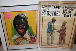 Minstrel Show Posters (Pair)