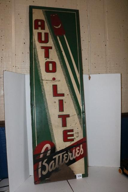 Auto Light Batteries Tin Sign-WILL NOT SHIP