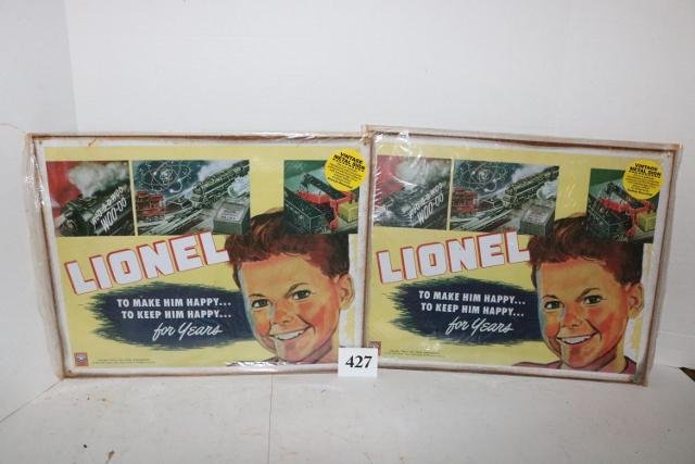 2 Reproduction Lionel Signs