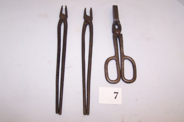 7: 3 pcs (2) Tongs & Touch up iron