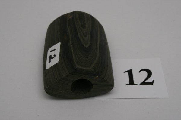 12: Banded Slate Prismoidal Bannerstone