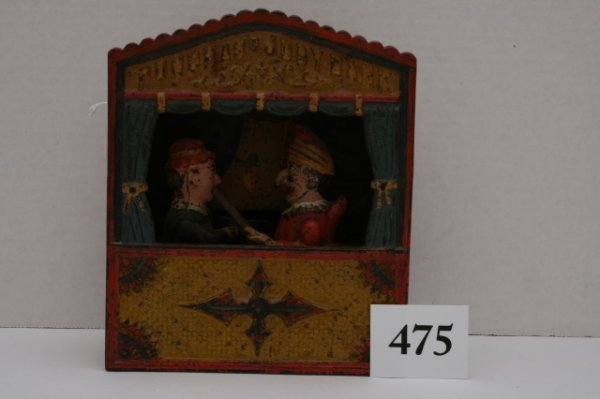 475: Shepard Cast Iron Punch and Judy Mechanical Bank
