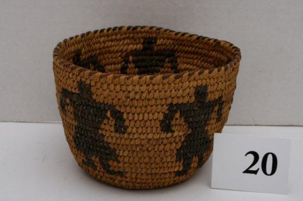 20: Papago Human Figure Basket