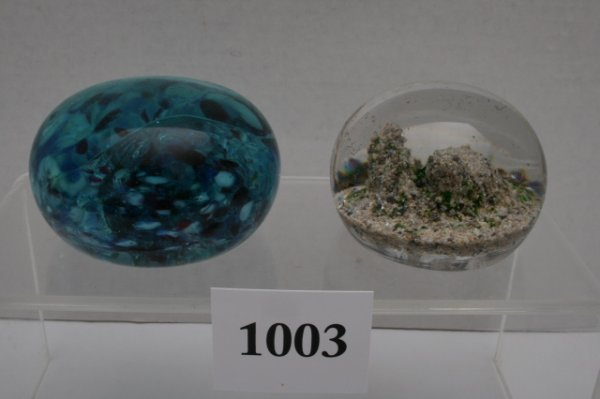 1003: 2 Paperweights
