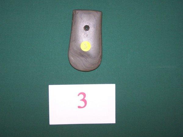 3: Banded Slate Key Hole Pendant