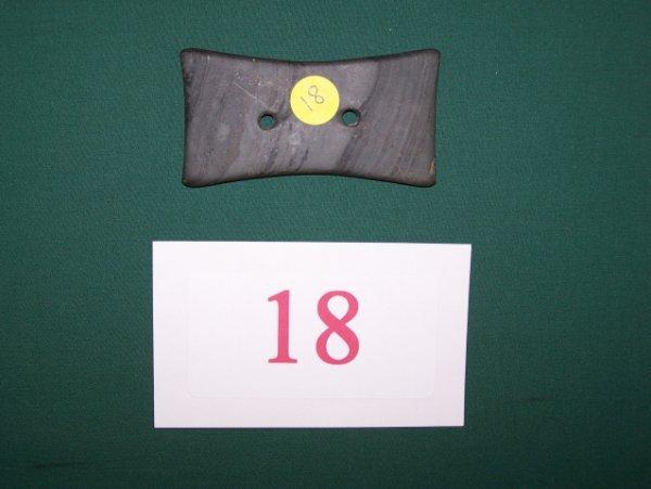 18: Quadraconcave Slate Gorget