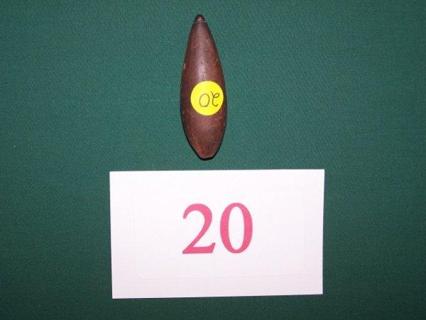 20: Grooved Hematite Plummet