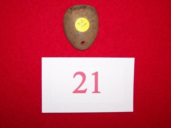 21: 2 Hole Stone Pendant