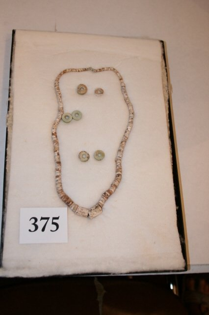 "375: 12 x 8 Frame – 18"" Strand of Shell Beads"