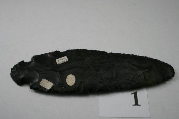 1: Red Ochre Turkey Tail Type Blade