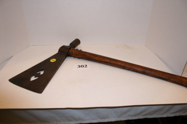 "302: 18"" Gun Barrel Made Pipe Tomahawk"