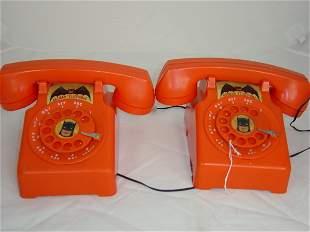 Pair Batman Battery operated telephones