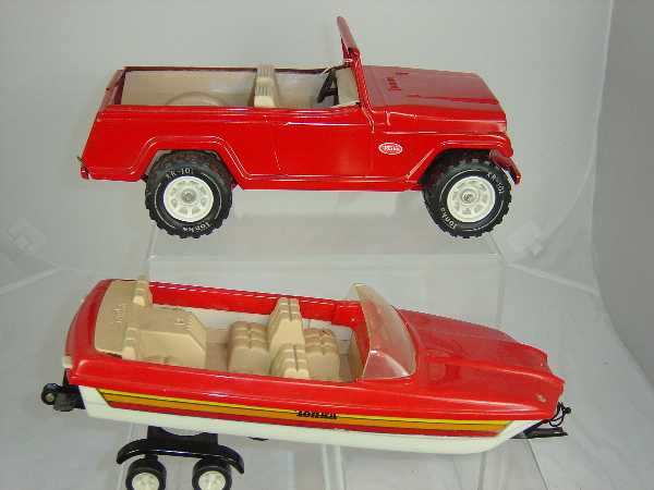 8 Tonka Toys Jeep With Trailer And Boat