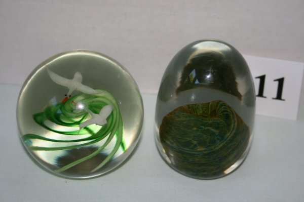 11: Two paper weights-one