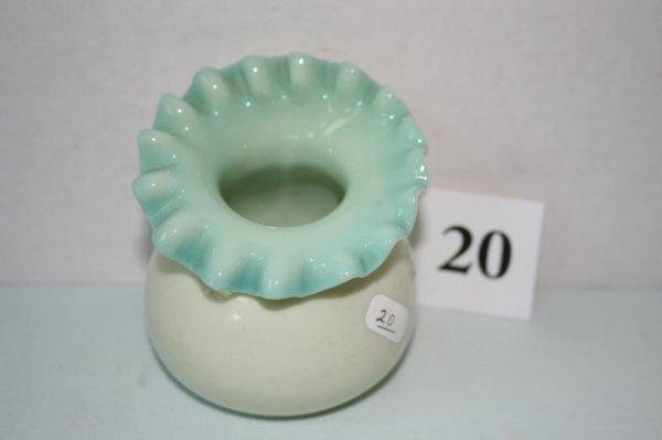 20: Green overlay squatty JIP vase