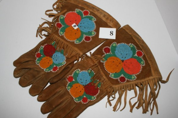 8: Pair of Beaded Gauntlets