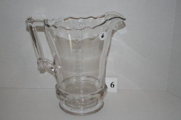 "6: 8 ¾"" Dart pattern water pitcher"