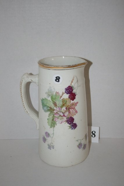8: Sevres hand painted milk pitcher