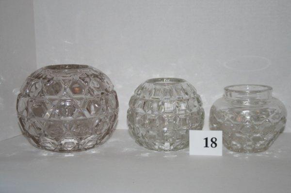 18: Three Rose bowls