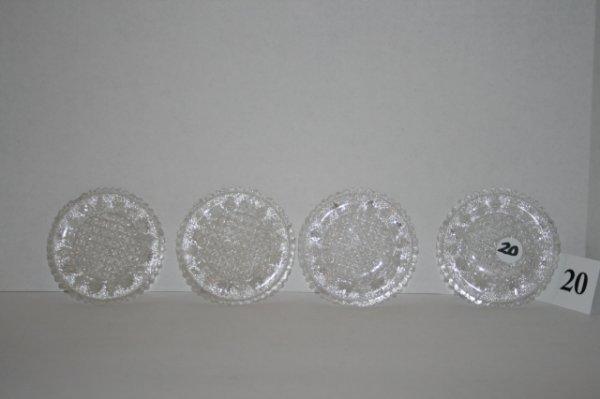 20: 4 Sandwich glass cup plates