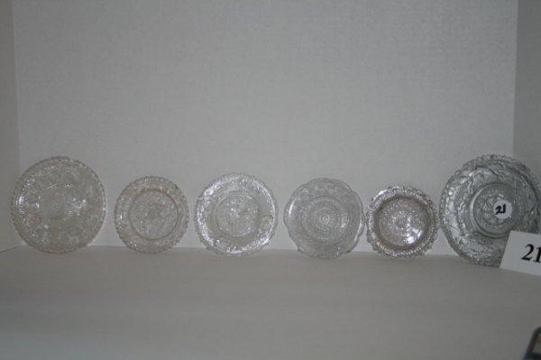 21: 6 Sandwich glass cup plates