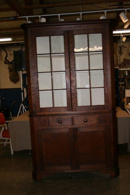 338: Cherry corner cupboard