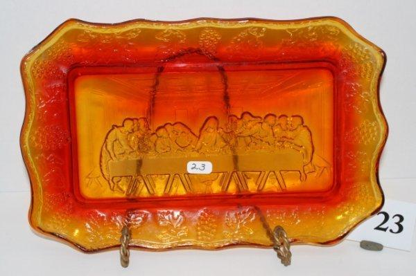 23: Amberina Last Supper Tray