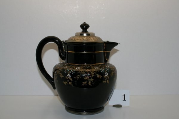 1: England Black Teapot
