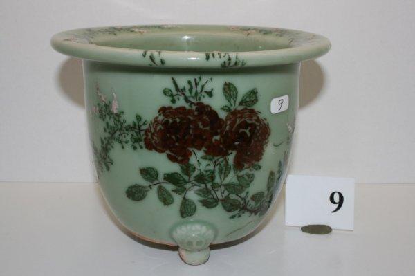 """9: 6"""" Celadon Flower Vase"""
