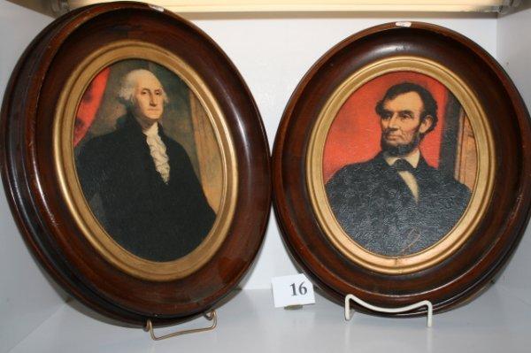 16: Pair of Walnut Oval Frames