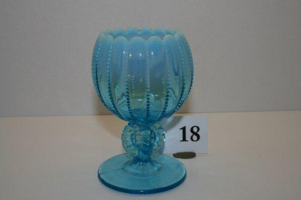 """18: 5 1/4"""" Blue Footed Vase"""