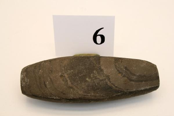 6: Banded Slate Undrilled Gorget