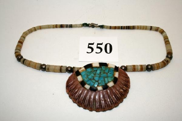 550: Shell Inlaid with Turquoise